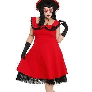 Torrid Red dress with black trim